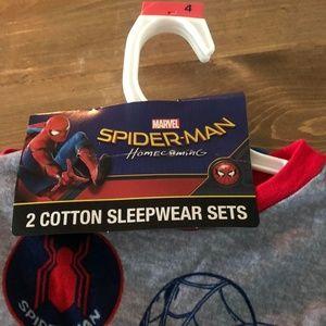 2 Cotton Sleepwear Sets Marvel NWT Boys Size 4